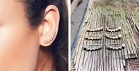 Jane - 71% Off Gold Plated Aries Ear Climbers