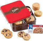 Mrs. Fields Cookie Tin + $15 GC