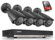 Sannce Annke 4-Camera 8-Channel HD Security Camera System