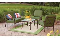 Mainstays Crossman 4-Piece Patio Conversation Set