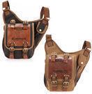 Men's Canvas Leather Military Messenger Bag
