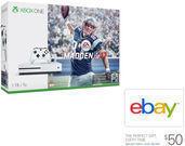 Xbox One S 1TB Console Madden 17 Bundle w/ $50 eBay GC