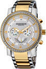Akribos XXIV Diamond Bezel Steel Men's Watch