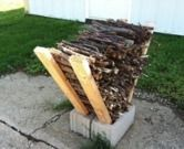 DIY Outdoor Kindling Rack