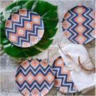 Global Print Salad Plates - Set of 4