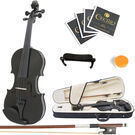 Mendini Size 4/4 Solid Wood Violin MV-Black + Accessories