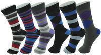 Six Pairs of Alpine Swiss Men's Mid Calf Cotton Dress Socks