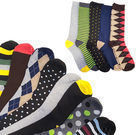 Men's Multi-Colored Casual Socks w/ Gift Box 5-Pack