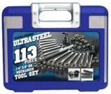 Ultra Steel 113-Pc. Mechanics Tool Set