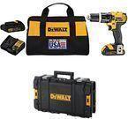 DeWalt 20-volt Li-Ion Cordless Hammer Drill Kit + Tool Box