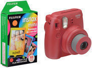 Fujifilm Instax Mini 8 Camera + Rainbow Instant Film (Pink)
