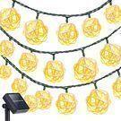 Oak Leaf 23-Foot 30-LED Solar Light Strand