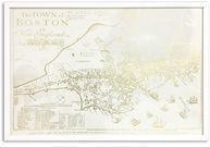 Boston Map Framed Graphic Art