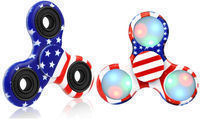 American Flag Fidget Spinners (Original & LED)