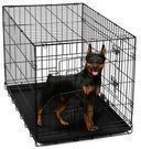 OxGord 24 Heavy Duty Foldable Double Door Dog Crate