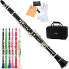 Mendini Bb Clarinet, Care Kit , 11 Reeds & Case