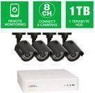 Q-See 8-Channel 720p 1TB Surveillance System w/ 4 Cameras
