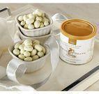 1 lb. Tins White Fudge Butter Toffee Almonds - 3pk