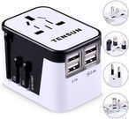 Tensun International Travel Plug Adapter with 4 USB Ports