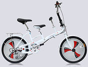 Parent-Child Folding 3 Speed Bike
