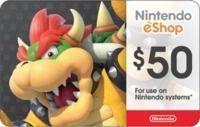 $50 Nintendo Gift Card