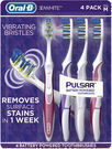Oral-B 3D White Pulsar Battery-Powered Toothbrush 4-Pack