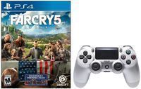 DualShock 4 Wireless Controller for PS4 (Silver) + Far Cry 5