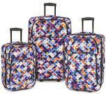 3-Piece Expandable Rolling Luggage Set