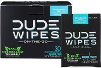 Dude Wipes Individually Wrapped Flushable Wet Wipes 30-Pack