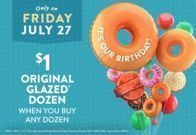 Krispy Kreme - Original Glazed Dozen for $1 | 7/27 Only