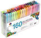 Smart Color Art 160 Color Gel Pen Set: 80 Pens w/ 80 Refills