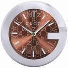 GUCCI Brown GG Pattern Dial Table Clock (5 Styles)