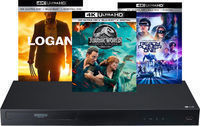 LG 4K Blu-ray Player + 3 Movies + Logitech Harmony Remote