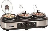 Bella 3 x 1.5-Quart Triple Slow Cooker