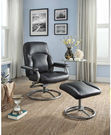 Mainstays Plush Pillowed Recliner Chair and Ottoman Set