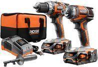 RIDGID 18V Lithium Cordless Drill/Driver 2-Tool Combo Kit