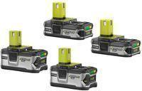 RYOBI 18V ONE+ Lithium-Ion High Capacity Battery Kit